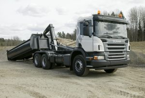 Scania P 380 6x4 hooklift Södertälje, Sweden Photo: Peggy Bergman 2008